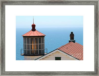 Point Reyes Lighthouse In California 7d16013 Framed Print