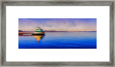 Point Ruston Awaiting Framed Print by Ken Stanback