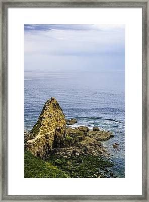 Pointe Du Hoc Framed Print