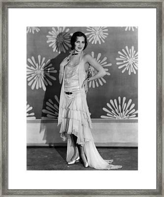 Pointed Heels, Fay Wray, 1929 Framed Print