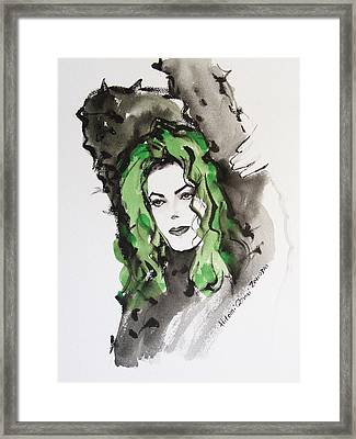 Pointed Sweater Framed Print by Hitomi Osanai