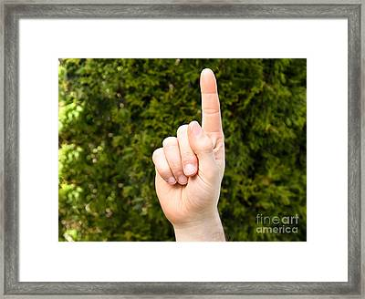 Pointer Finger Framed Print by Photo Researchers, Inc.
