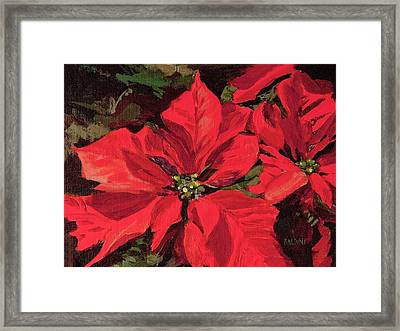 Pointsettia Flower Framed Print by J R Baldini
