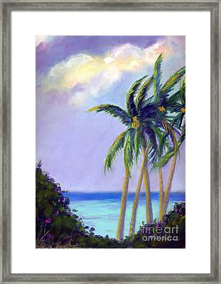 Poipu Palms Framed Print