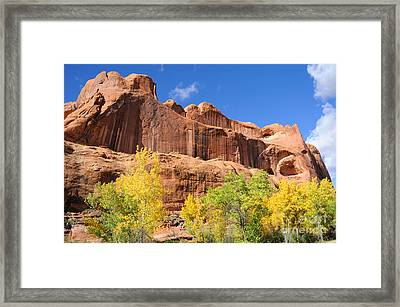 Poison Spider Mesa In The Fall Framed Print by Gary Whitton