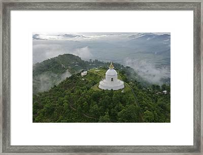 Pokhara, Nepal, Asia- World Peace Framed Print by Keenpress