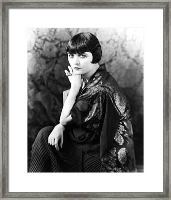Pola Negri, Mid-1920s Framed Print by Everett