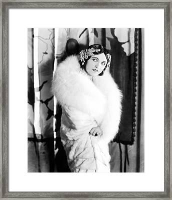 Pola Negri Wearing A White Knee-length Framed Print by Everett
