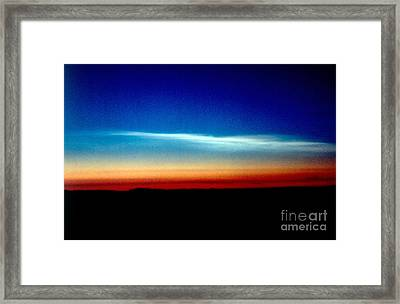 Polar Stratospheric Clouds Framed Print by Nasa