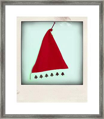 Polaroid Of A Christmas Hat Framed Print by Bernard Jaubert