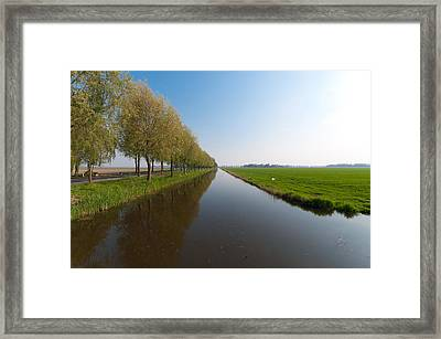 Framed Print featuring the photograph Polder Ditch by Hans Engbers