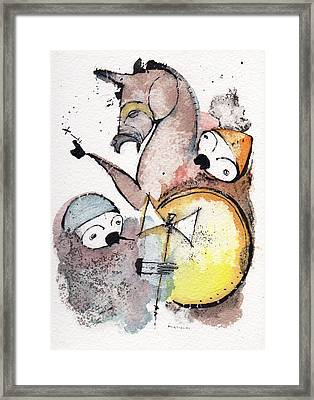 Polemos 9 Framed Print by Mark M  Mellon