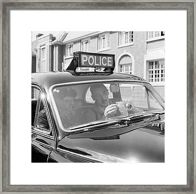 Police Camera Action Framed Print