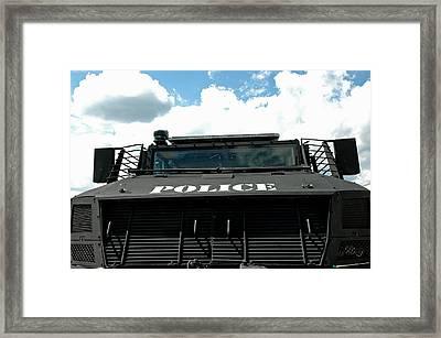 Police Force Framed Print by LeeAnn McLaneGoetz McLaneGoetzStudioLLCcom