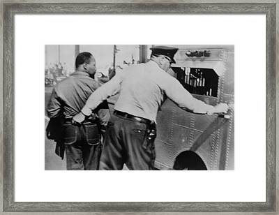 Police Officer Seizing Martin Luther Framed Print by Everett