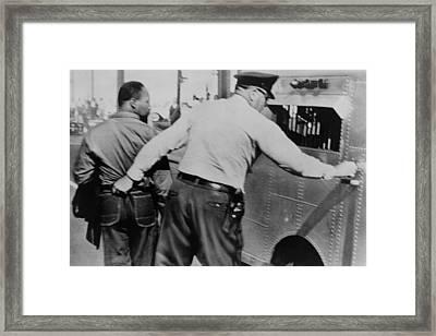 Police Officer Seizing Martin Luther Framed Print