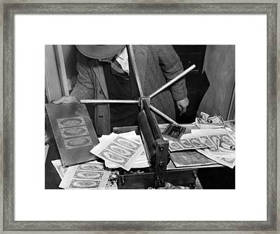 Police Seized $1,000,000 Counterfeiting Framed Print by Everett