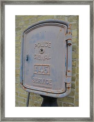 Police Signal Box Framed Print by Daryl Macintyre