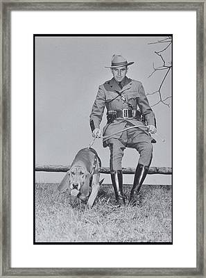 Policeman And His Dog Walking, 1950s Framed Print by Archive Holdings Inc.