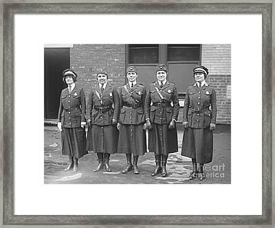 Policewomen Framed Print by Padre Art