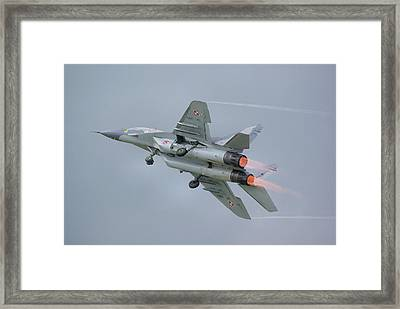 Polish Air Force Mig-29 Framed Print by Tim Beach