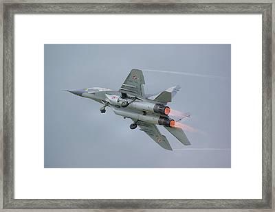 Polish Air Force Mig-29 Framed Print