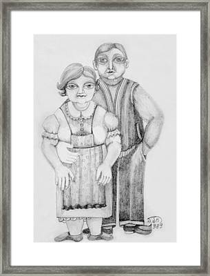 Polish Couple Framed Print