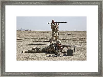 Polish Soldiers Prepare To Fire Framed Print