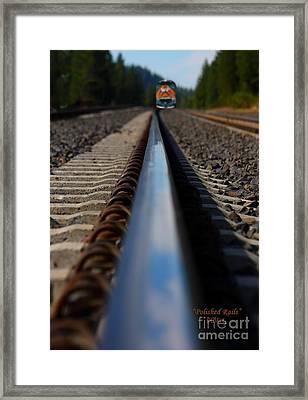 Polished Rails Framed Print