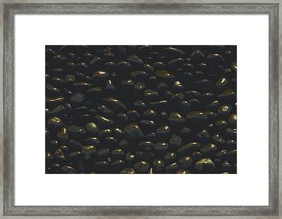 Framed Print featuring the photograph Polished Rocks Baja Peninsula by Tom Wurl