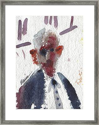 Politician Framed Print by Donald Maier