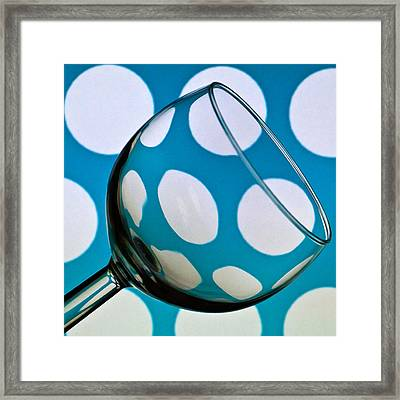 Framed Print featuring the photograph Polka Dot Glass by Steve Purnell