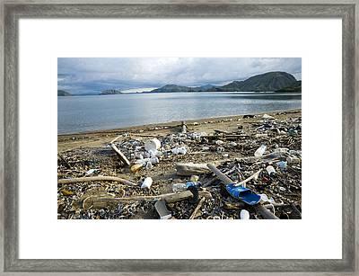 Polluted Beach, Komodo Island, Indonesia Framed Print