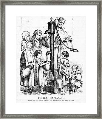 Polluted Water Spreading Disease Framed Print by Science Source