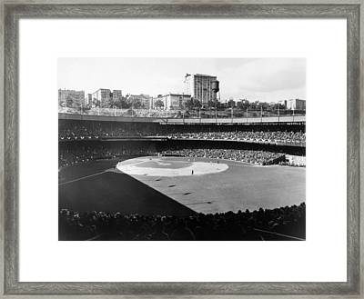 Polo Grounds, During The 1937 World Framed Print by Everett