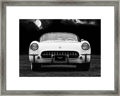 Polo White Night Framed Print by Peter Chilelli