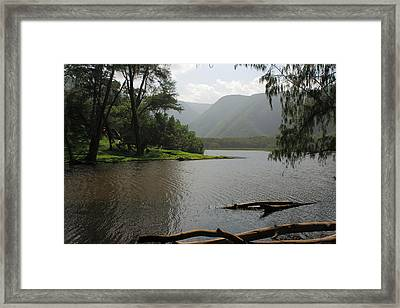 Framed Print featuring the photograph Pololu Valley Off Awini Trail by Scott Rackers