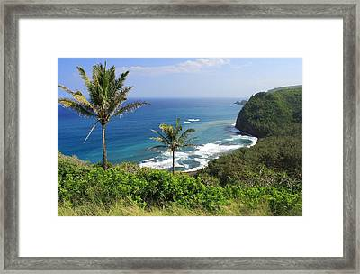 Framed Print featuring the photograph Pololu Valley by Scott Rackers