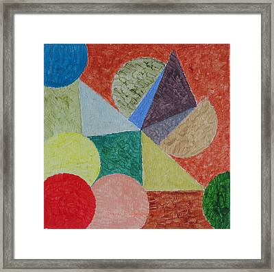 Framed Print featuring the painting Polychrome by Sonali Gangane