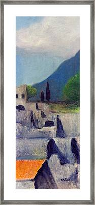 Pompeii Sketch 2 Framed Print by David Wiles