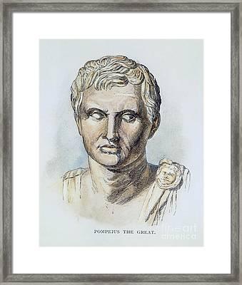 Pompey (106-48 B.c.) Framed Print by Granger