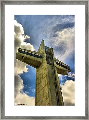 Ponce Cross Framed Print by Nicholas Caputo