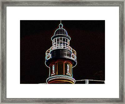 Ponce Inlet Lighthouse Framed Print by Dennis Dugan