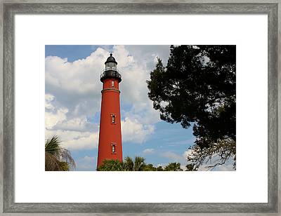 Ponce Inlet Lighthouse Framed Print