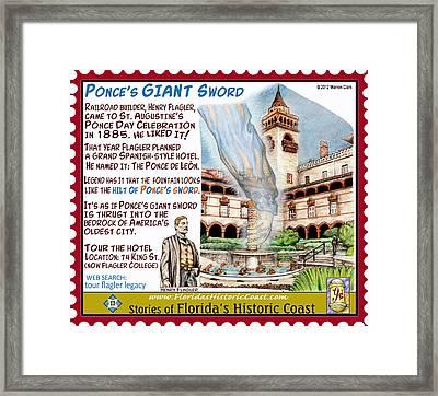 Ponce's Giant Sword Framed Print by Warren Clark
