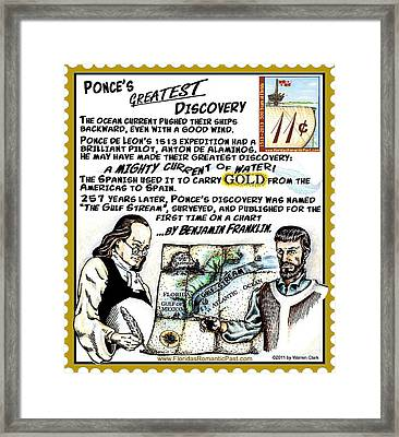 Ponce's Greatest Discovery Framed Print