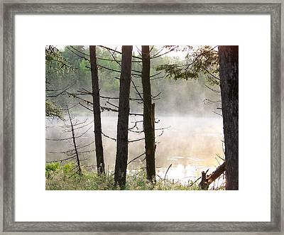 Framed Print featuring the photograph Pond In Jackman by Robin Regan