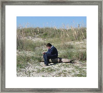 Pondering Framed Print by Juliana  Blessington
