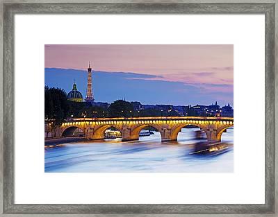 'pont Louis Philippe' Bridge And Eiffel Tower Framed Print