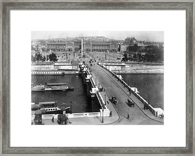 Pont Neuf And Place De La Concorde Framed Print by Everett